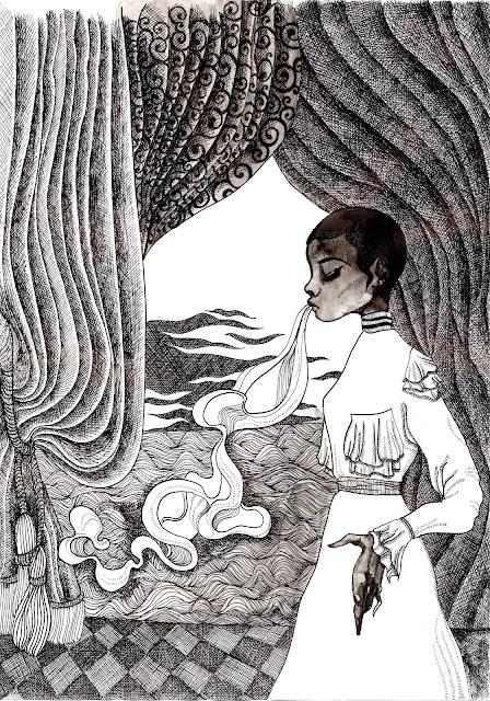 Ectoplasm Ink Illustration