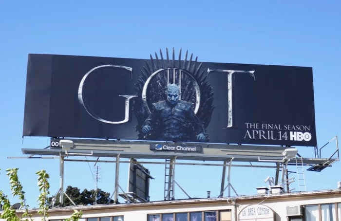 Game of Thrones final season 8 Night King billboard