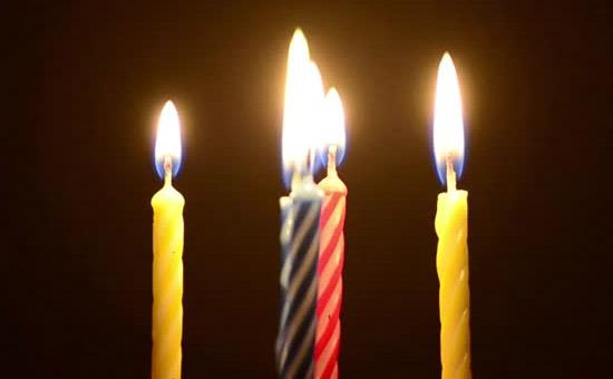 Origem velas bolo aniversario