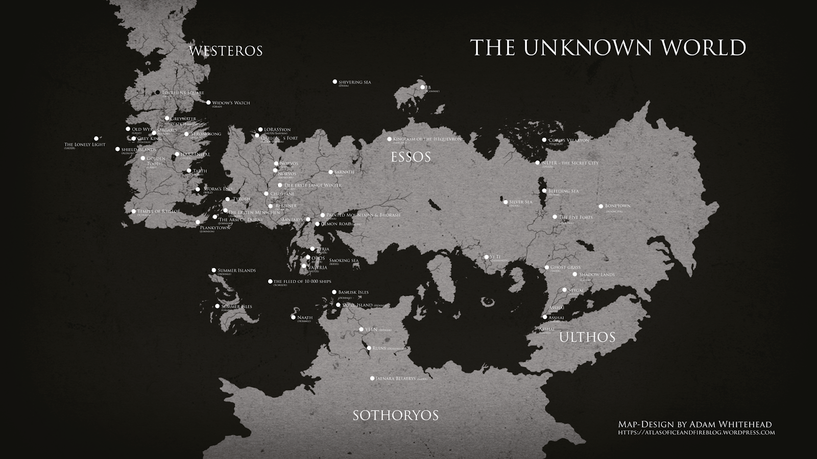 if this maps looks familiar it s because it s based on the definitely non canon world map i created for my atlas of ice and fire blog a few years back