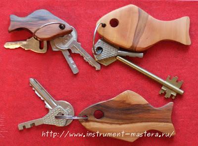 брелок для ключей из дерева