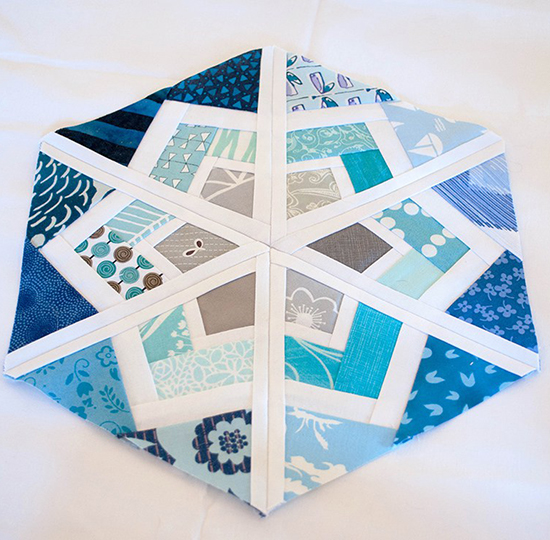 'Snow Cristal' block free Quilt Pattern