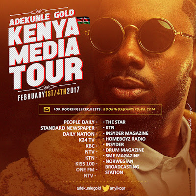 Adekunle Gold Set for Kanya Media Tour for Feb 1