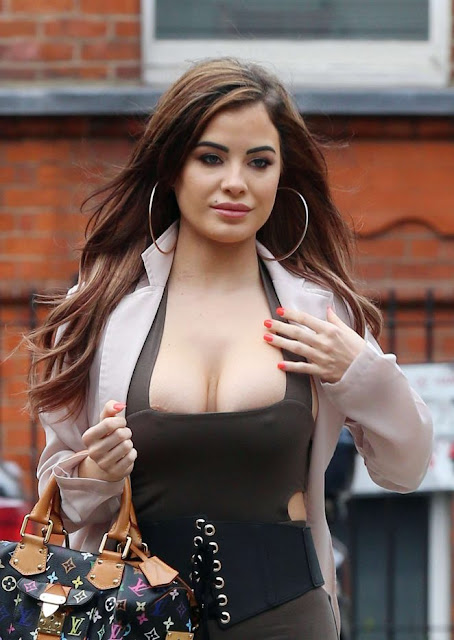 Carla Howe in Tights out in West London