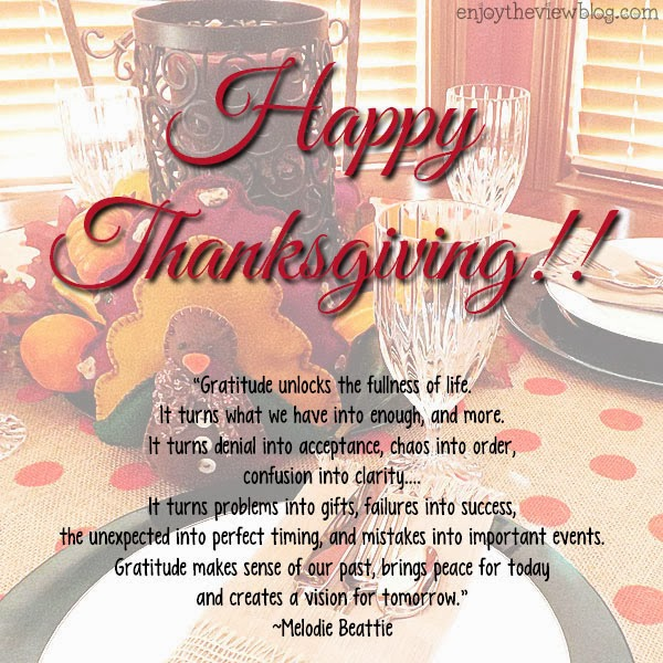 Happy Thanksgiving from enjoytheviewblog.com #thanksgiving #holiday