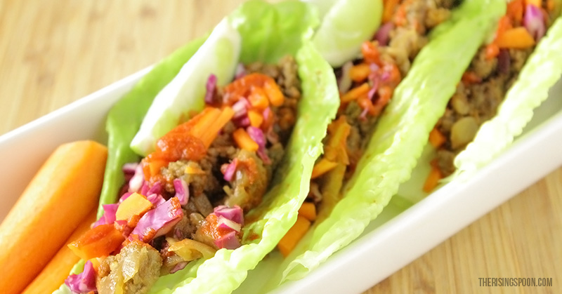 Beef Lettuce Wraps | therisingspoon.com