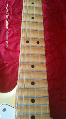 Fender Japan scalloped fingerboard