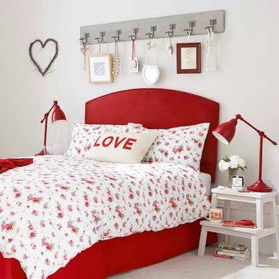 De tudo um pouco decora o vermelho na decora o for Mobilia bedroom