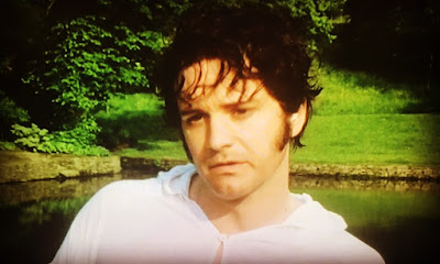 colin first as mr darcy in his white wet shirt