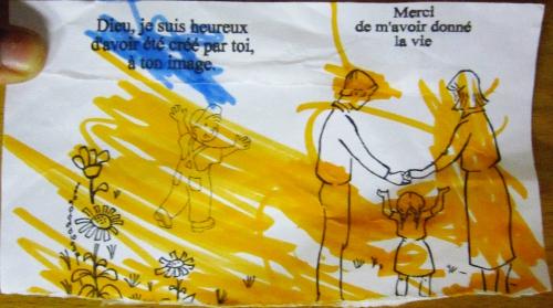 Liturgie de la Parole des très jeunes enfants : Dieu, je suis heureux d'avoir été créé par Toi à ton image.