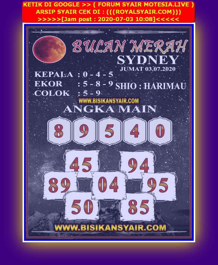 Kode syair Sydney Jumat 3 Juli 2020 201