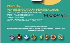 Unduh Buku Panduan Penyelenggaraan Pembelajaran Pada Tahun Ajaran 2020/2021 SD SMP SMA MA Masa Pandemi