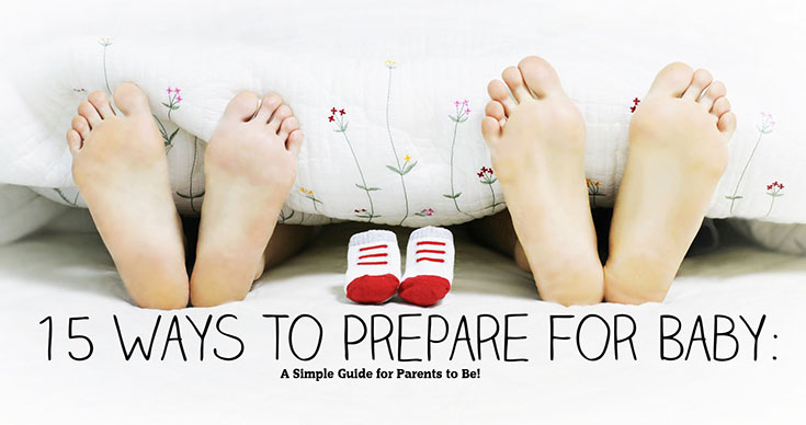 Having a baby is such a fun and exciting time in your life, it can definitely be a stressful time as well! Here's 15 simple ways to prepare your life for baby!