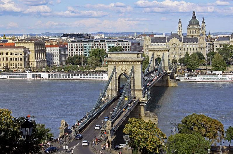 One of The Oldest Bridges of Budapest - the Chain Bridge