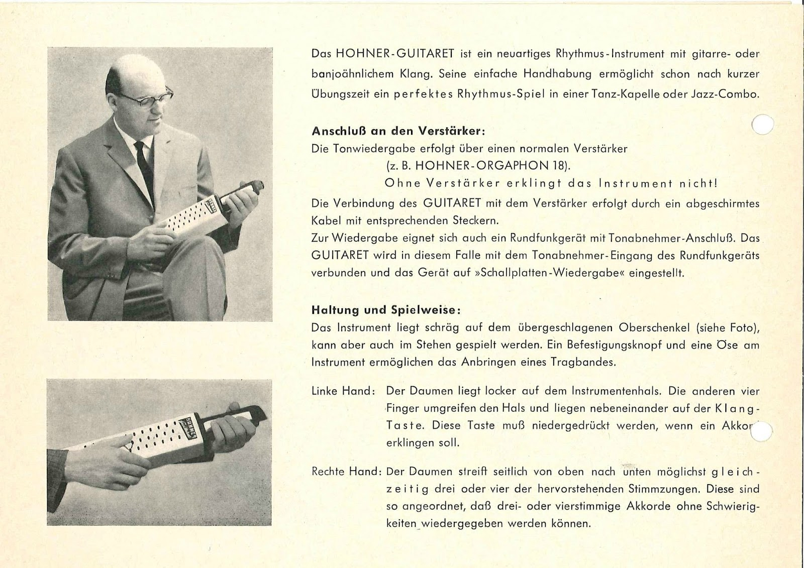 PREPARED GUITAR: Guitaret by Ernst Zacharias