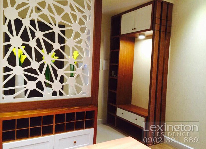 dự án lexington cho thuê căn hộ 1 phòng ngủ - tường ngăn cách phòng ngủ với phòng khách