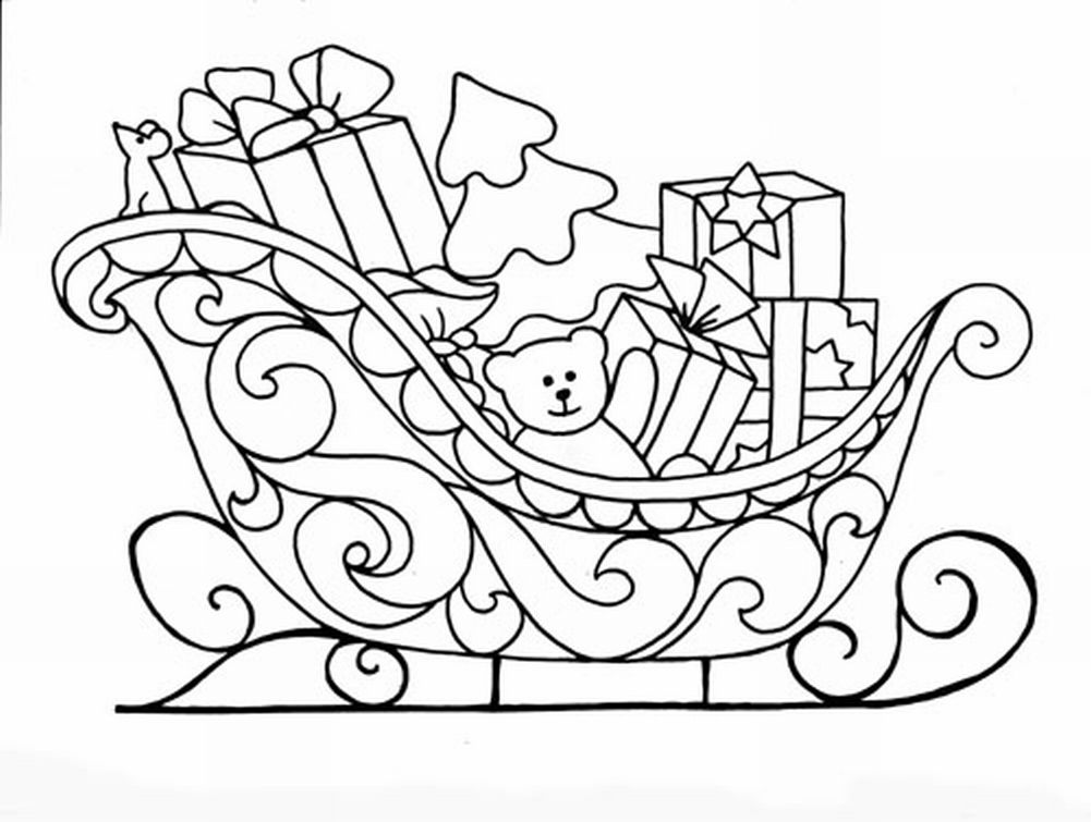 Disegni di natale da colorare 2 - Immagine di regali di natale ...