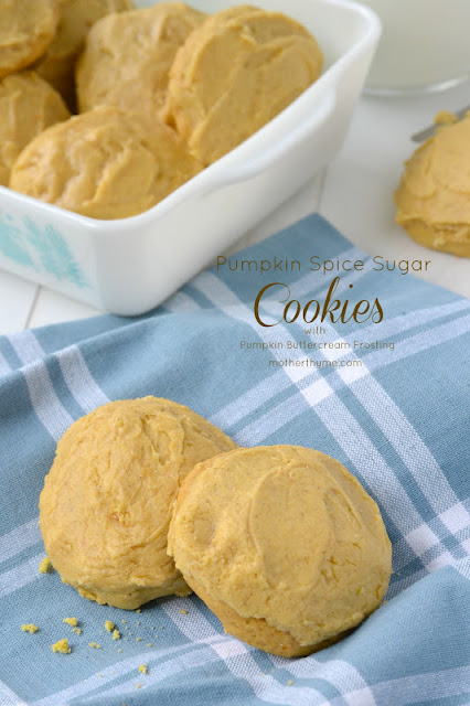 pumpkin spice sugar cookies with pumpkin buttercream frosting