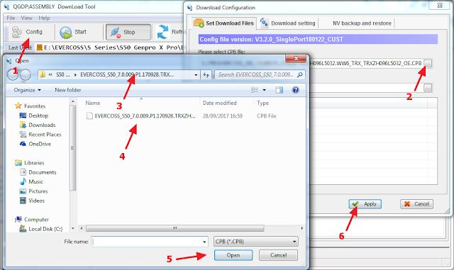 load firmware untuk diubah file cpb ke scatter
