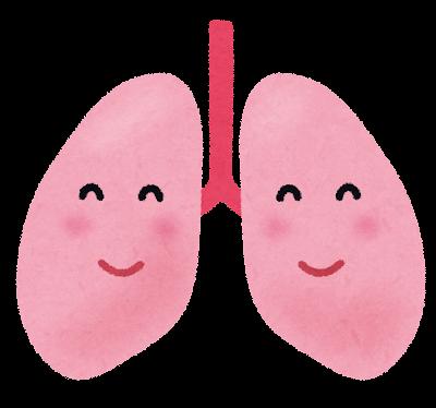 健康な肺のキャラクター
