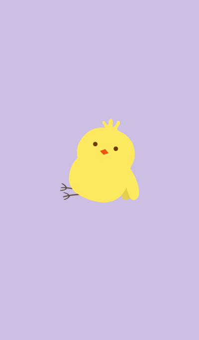 Lazy yellow chick