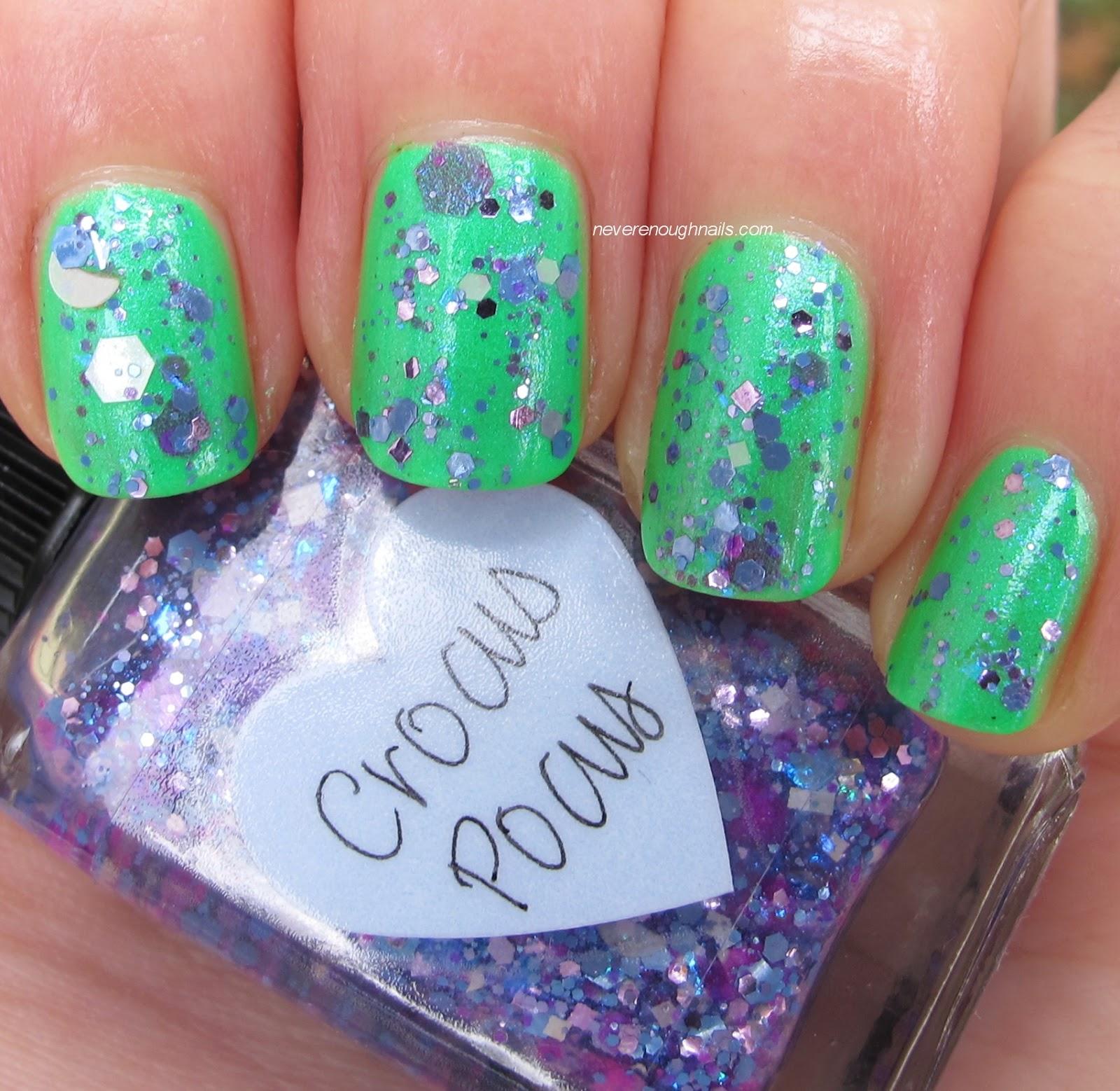 Never Enough Nails: Lynnderella Crocus Pocus and Tres Chic, Duckie Dear