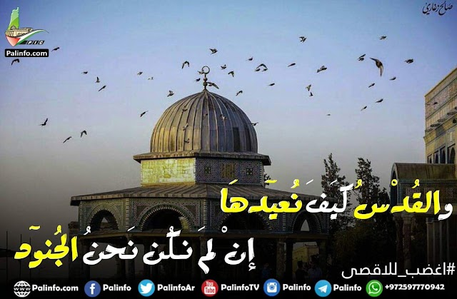 صور للتضامن مع القدس الاقصى المحاصر .. البوايات لأ