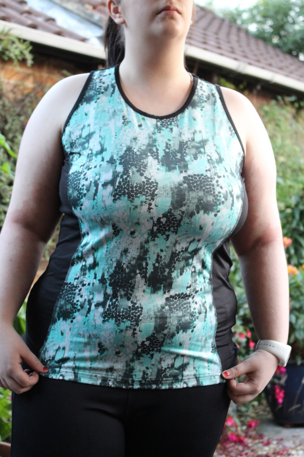 nice print gym vest plus size womens