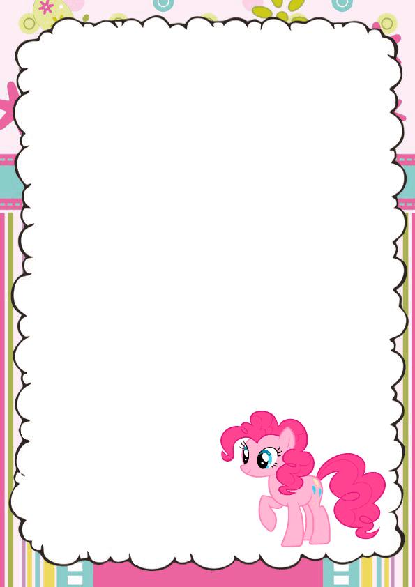 Bonita caratula para cuaderno de pony