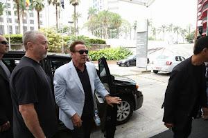 Schwarzenegger chega a São Paulo para a abertura do Arnold Classic South America