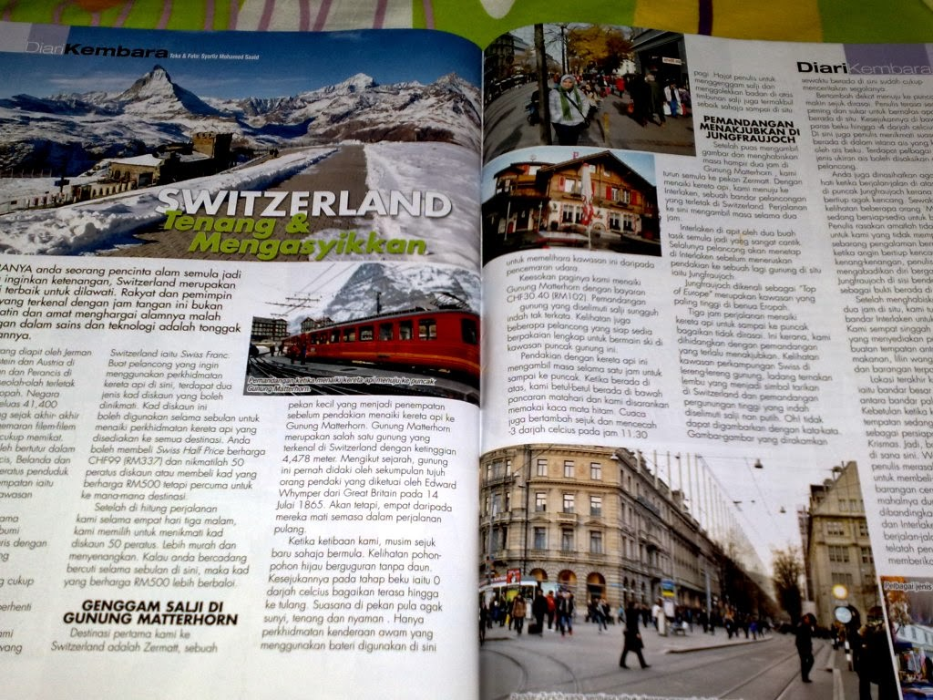 MyTravelog Switzerland - Majalah Harmoni (2010)