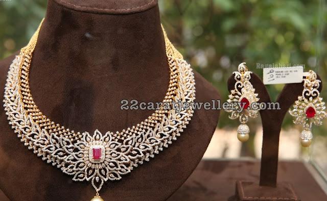 Diamond Emerald Sets by Nikitha Jewellery