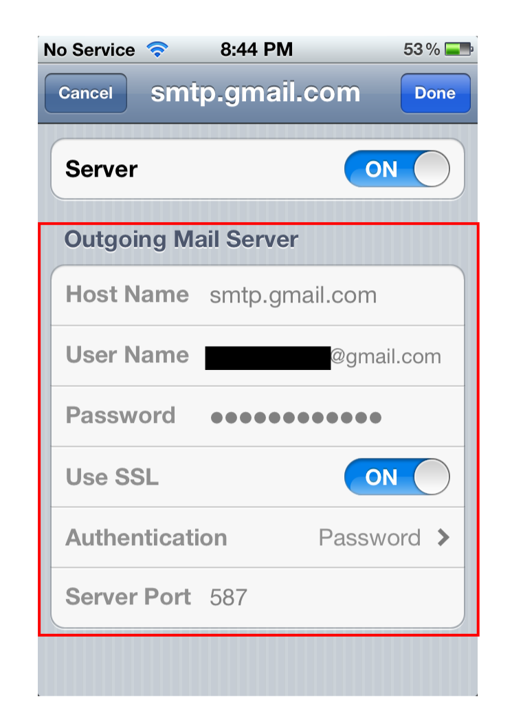 Coffee Strike: Mail not sending on iPhone? Check SMTP settings