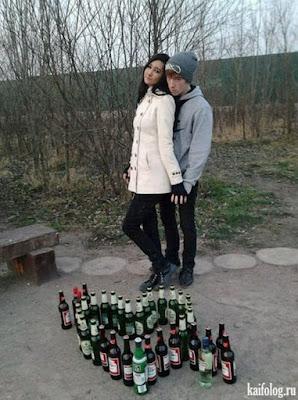 Liebespaar Foto - Bier und Wein