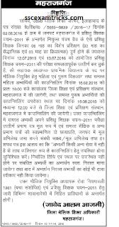 up btc 2011 maharajganj