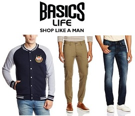 Basicslife Men's Clothing – Flat 50% – 70% Off @ Amazon