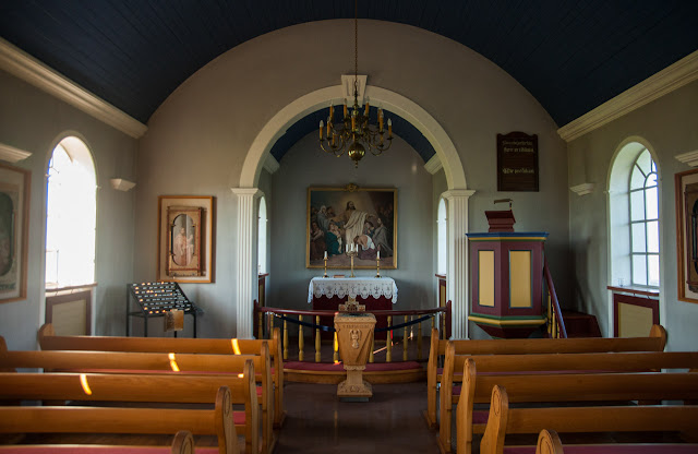 Interior iglesia de Glaumbær