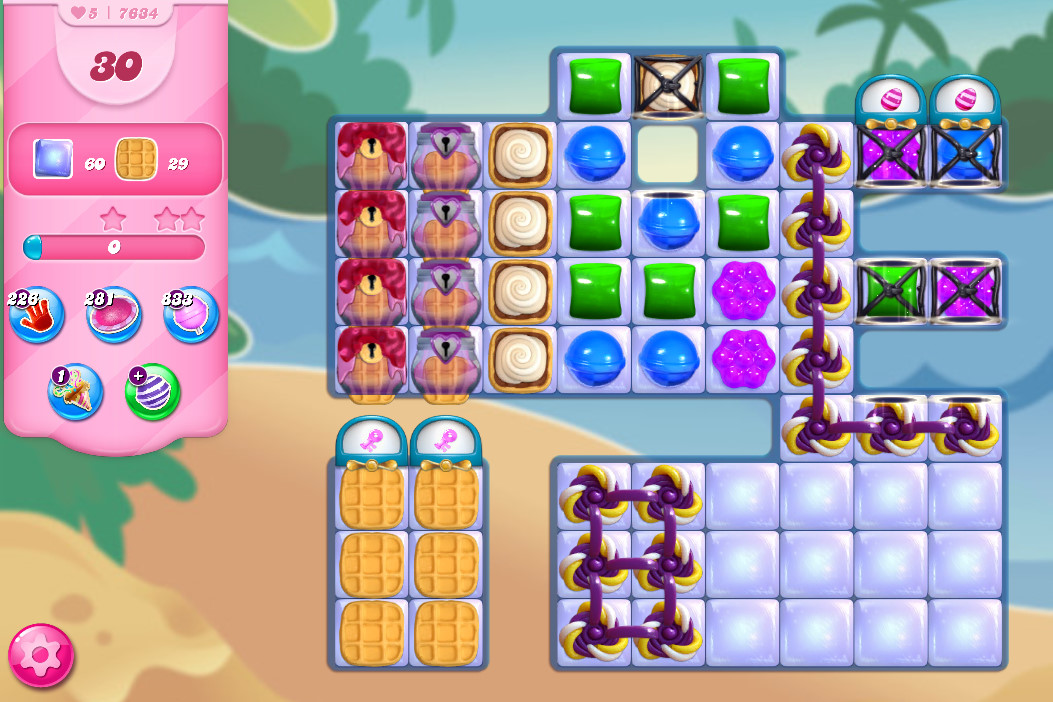 Candy Crush Saga level 7634