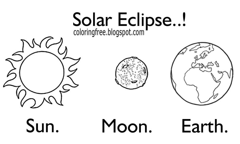 Free coloring pages printable pictures to color kids for Solar eclipse coloring page