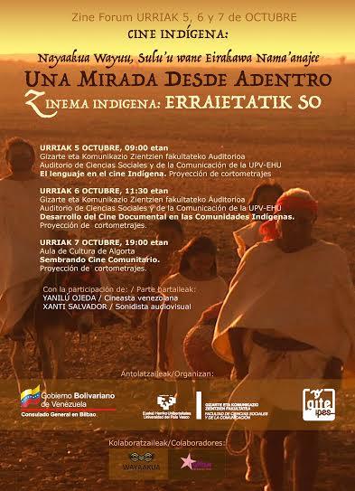Cine Indígena de Venezuela presente en Bilbao