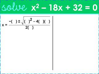 Quadratic Formula warm ups