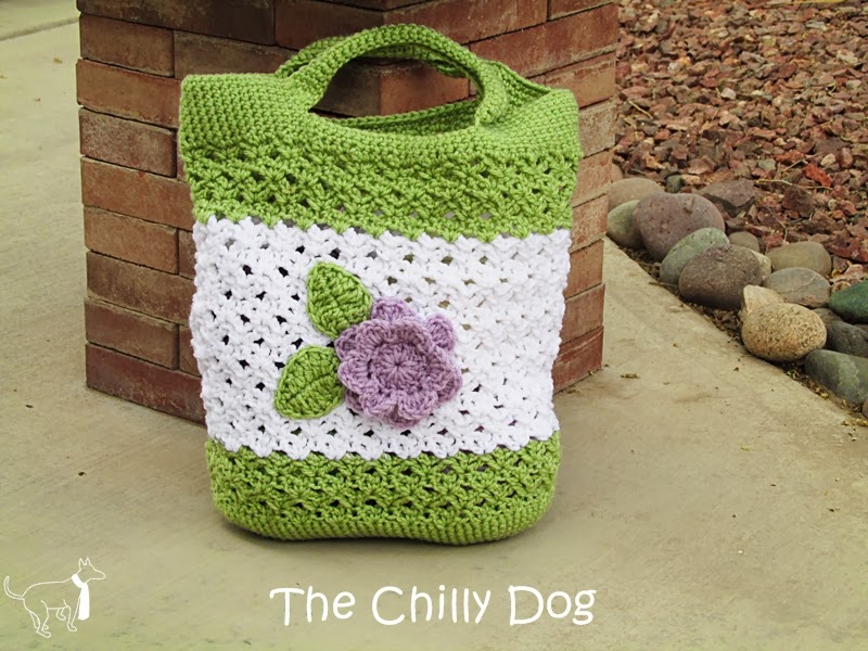 March Giveaway: Enter to win this crocheted Lavender Garden tote bag