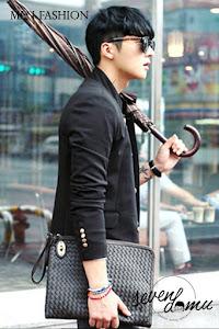 seven domu sk15 black korean blazer style