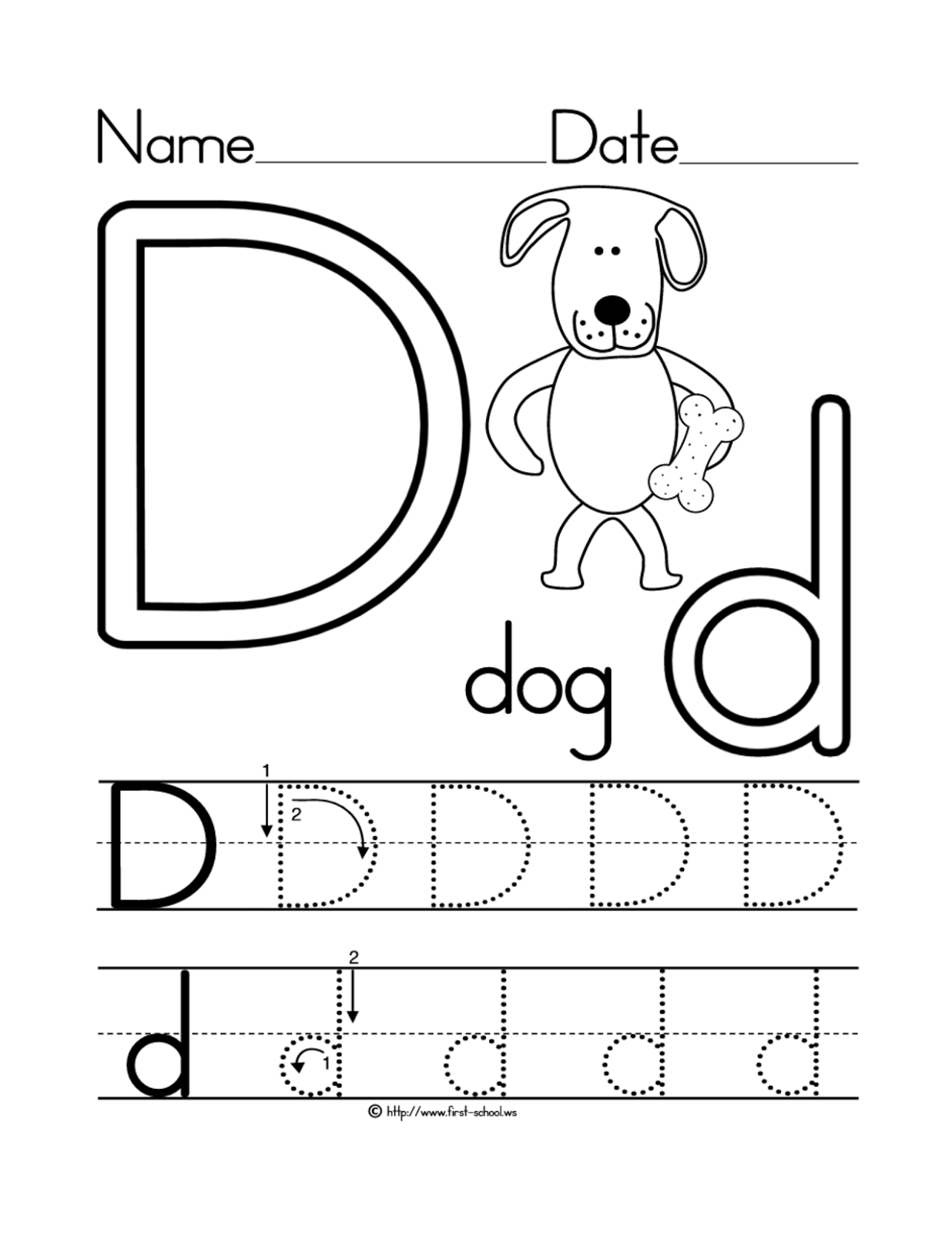 Have Fun Learning English The Letter D