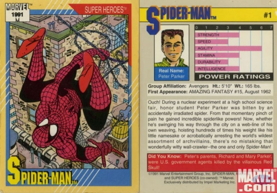 Marvel 1991 Trading Cards  Early Retirement Extreme