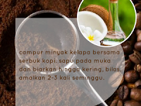 Masker kopi untuk kulit berjerawat
