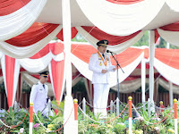 Pimpin Upacara Peringatan Hut Lampung Ke-55, Gubernur Ridho Ajak Untuk Terus Berjuang dan Berkarya