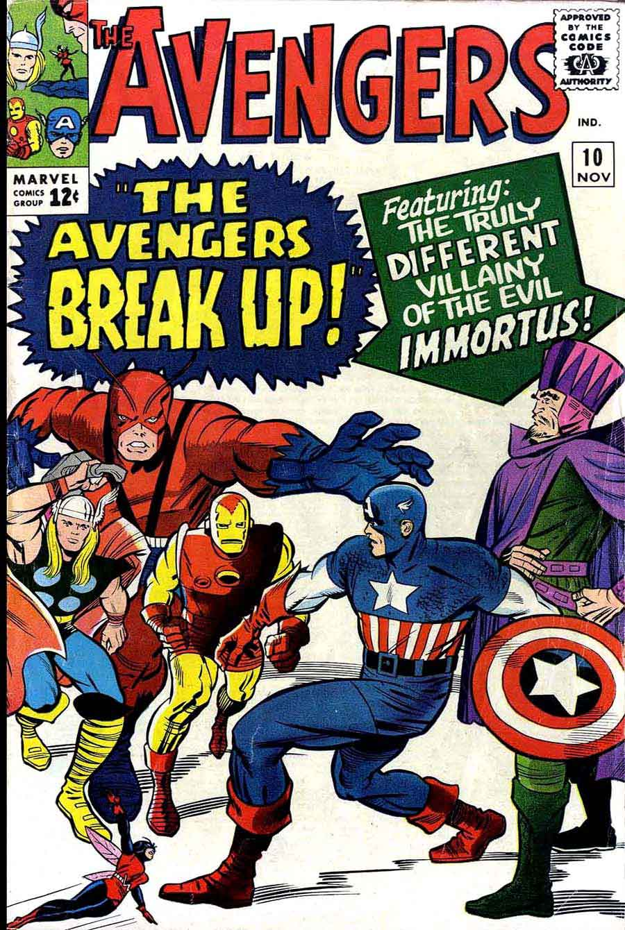 Avengers 10 Jack Kirby Cover Pencil Ink border=