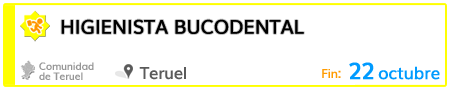 Higienista bucodental en Teruel