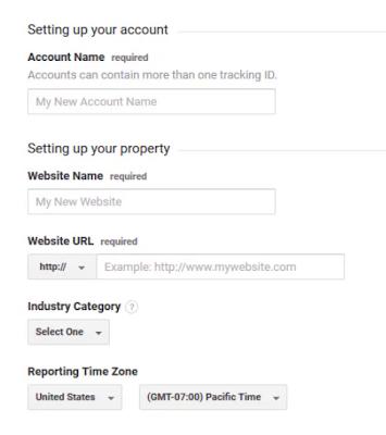Form Option In Google Analytics